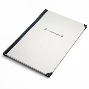 Kondolenzbuch Heinrich Schiff Hardcover in Leinen mit individueller Prägung Buchbinderei Stundner