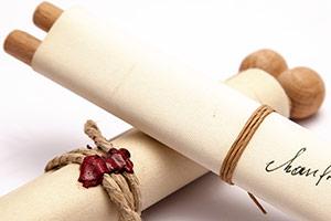 schriftrolle für Geburtstage Hochzeitseinladung