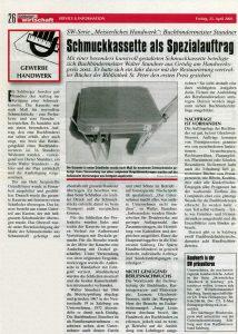 schmuckkasette in leder wirtschaftszeitung buchbinderei stundner salzburg
